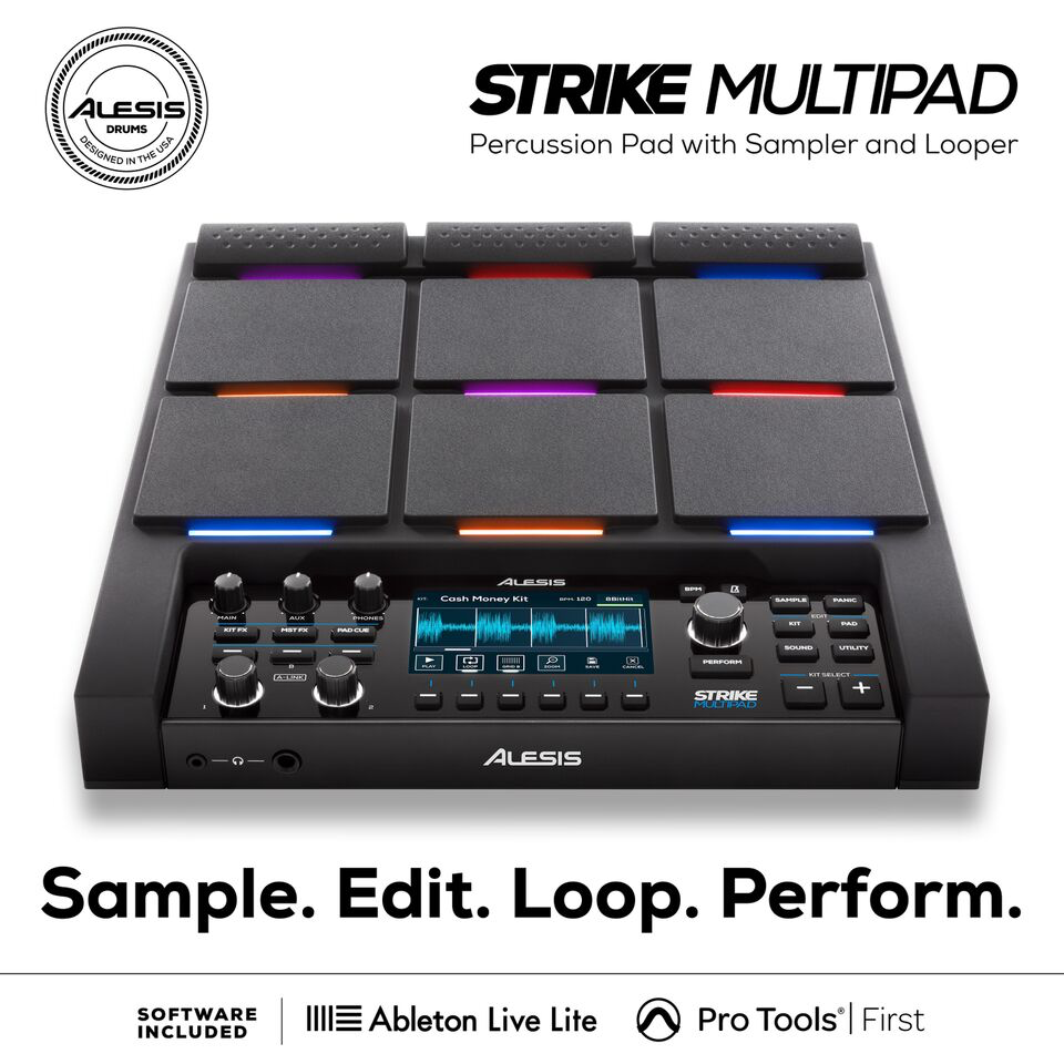 STRIKE MULTIPAD   Барабанный MIDI-контроллер с сэмплером и лупером